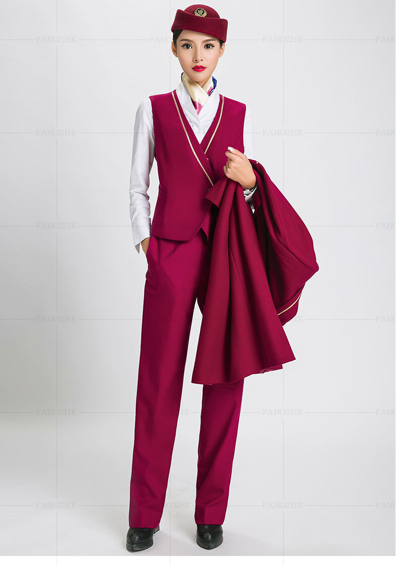 L/'Hôtesse Costume 4 pièces rouge