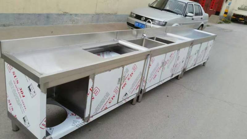 Commercial Stainless Steel Ready Made Kitchen Cabinets With Sink Buy