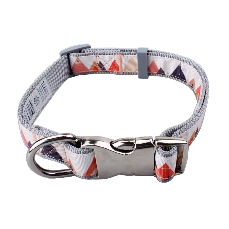 Top quality fashion two layer adjustable designer dog collars with metal buckles