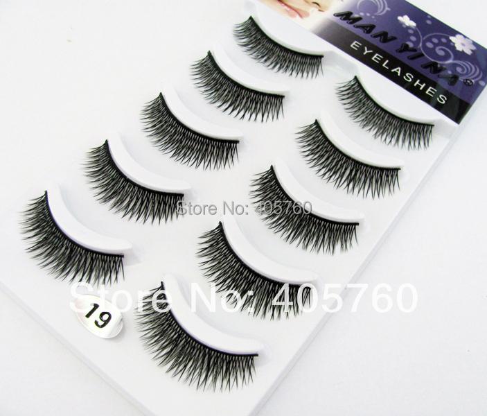 128387d70ed Get Quotations · Wholesale 10pairs/lot Fashion Crisscross Black False  Eyelashes Fake Eye Lash Makeup Beauty DIY Salon