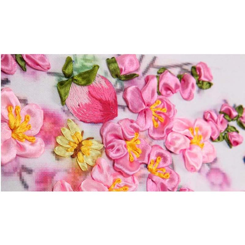 SD-1 White Rose ribbon embroidery kits cross stitch kit