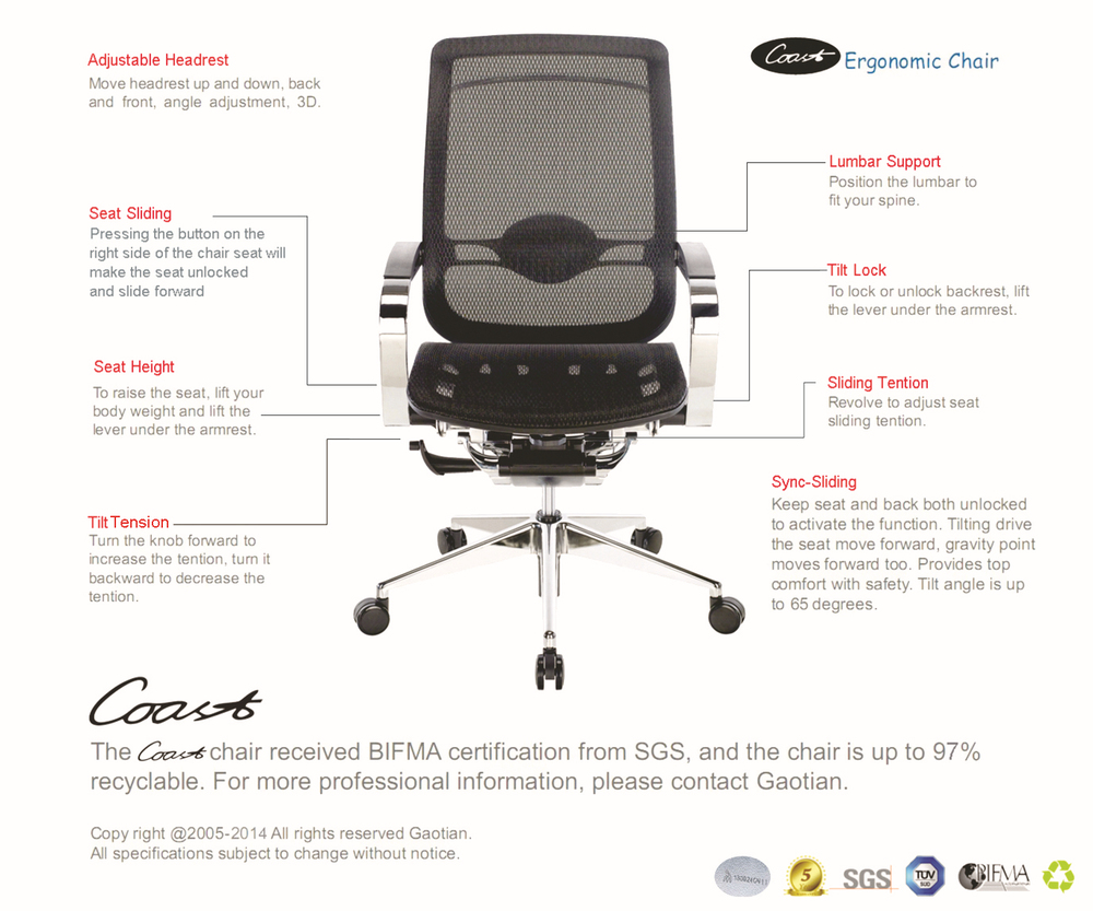 luxury high quality operative swivel manager ergonomic office chair
