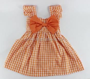 Naranja Cuadros Bebé Vestido De Estilo Nuevo Vestidos 6 Años Bebé Niña Vestido De Fiesta Buy Bebé Niña Vestido De Fiestavestido De Bebé Nuevo