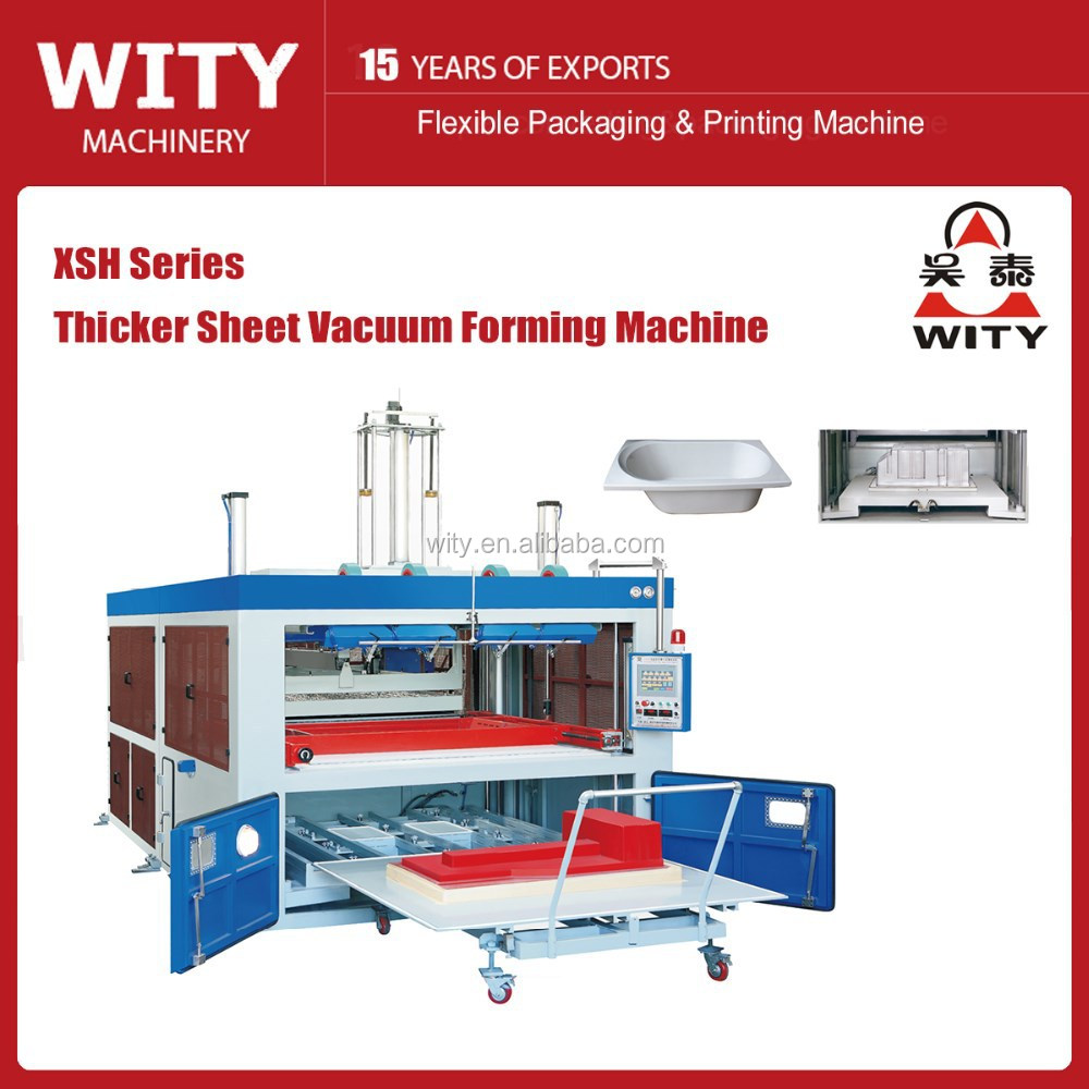 Thicker ABS pastic sheet vacuum forming machine