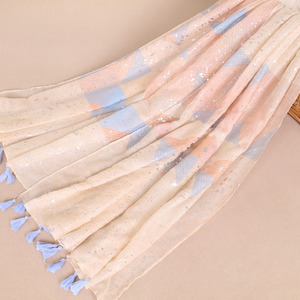 New Coming Viscose Shawl Scarf Tassel Fringe With Shade Color Scarf