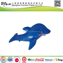 Gold manufacturer customized design animal figure children play pvc kids toy inflatable dolphin
