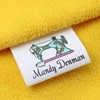 china cheap 100% organic cotton wash screen printing in custom woven label,neck for baby kid children dress clothing tags labels