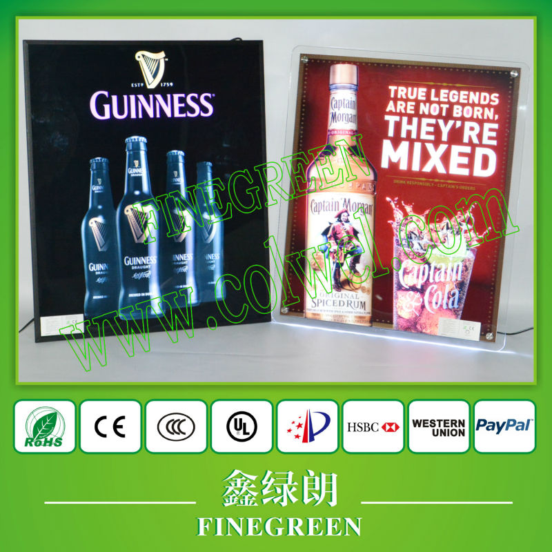 customizing el poster!Top quality el panel printing famous brand,flashing with animated