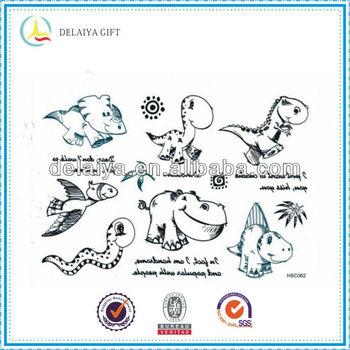 Fashion Temporary Tattoo Sticker Cartoon For Dinosaur Buy Tattoo