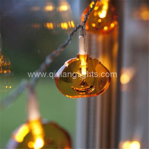 Hot sale 20 LED Pumpkin Pendant Light Halloween Christmas Decor Fairy String Light