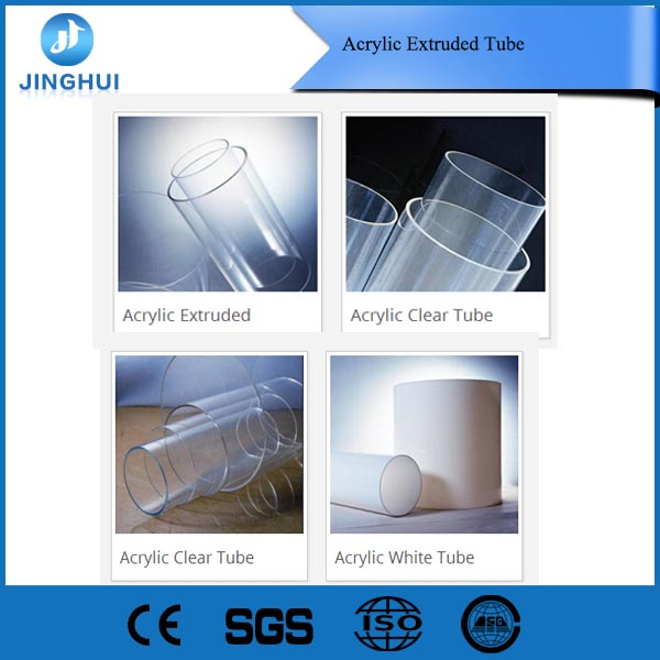 Acrylic Extruded Tube Clear Acrylic Tube custom size professional supplier
