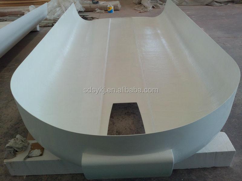 Remolque del caballo de vidrio techo paneles de fibra de for Paneles de fibra de vidrio
