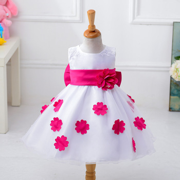 Latest design boutique girl clothing baby girl wedding dress ...
