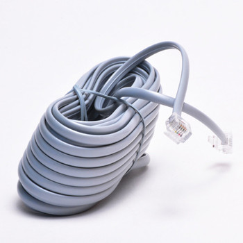 Wire ADSL Male to Male Modem RJ11 Telephone Cable Lead 6ft 1.8m Grey