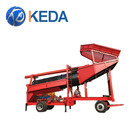 China Portable Mining Mobile Gold Trommel Wash Plant With Gold Separating System
