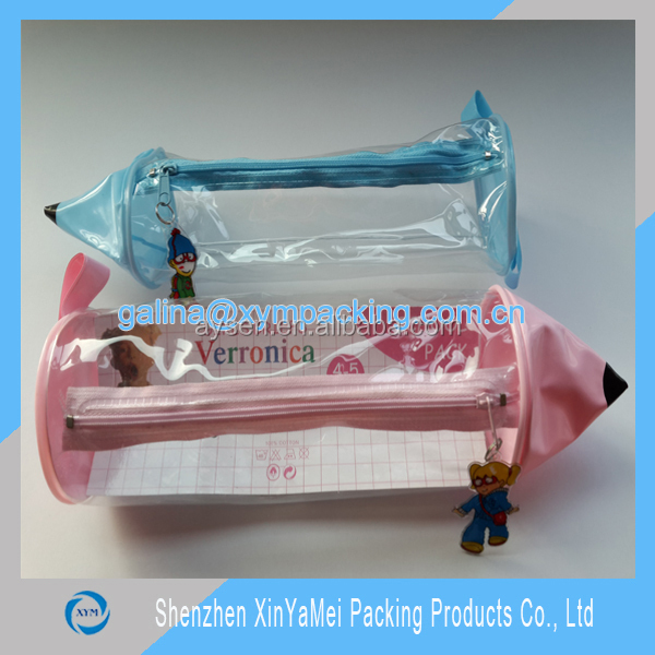 Customized Clear Plastic Pencil Case With Zipper