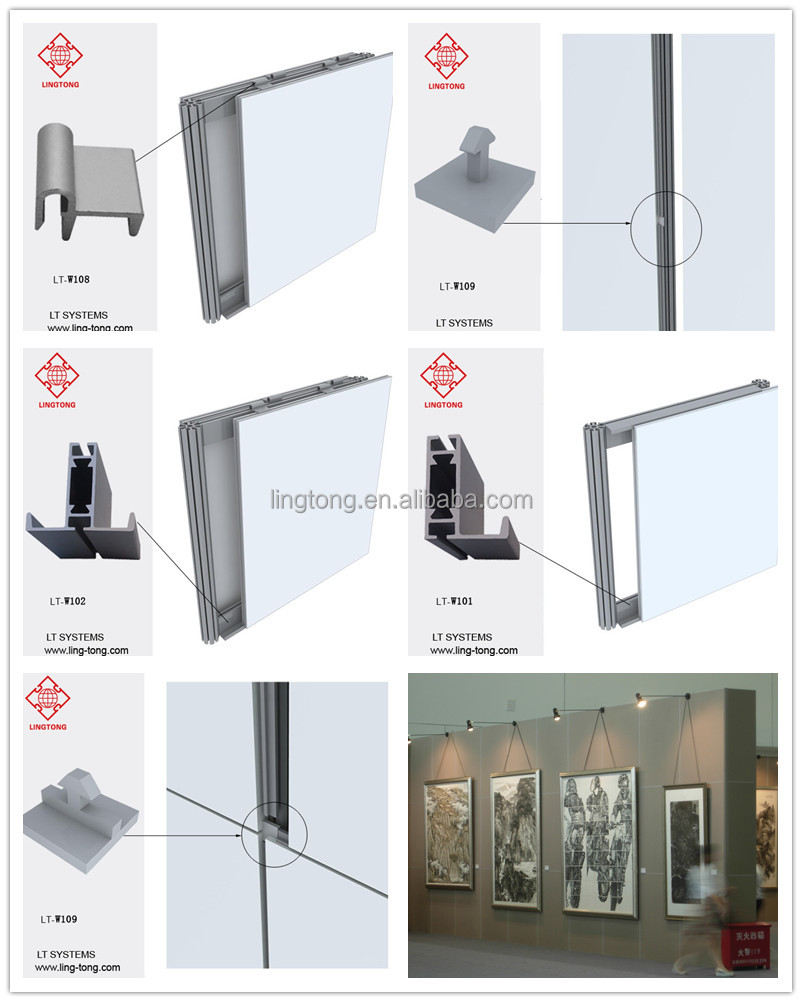 Exhibition Stand Wall Panels : Aluminium frame wall system for exhibition display booth