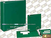 Faux leather binder
