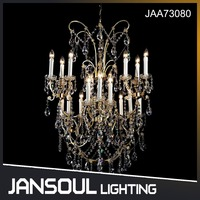 Hot sale Newest beautiful Cheapest antique brass crystal chandelier for villa living room