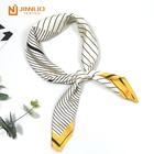 square scarf women fashion echarpe uniform accessory stripe hijab airlines pointed silk like satin hair neck 70 X70