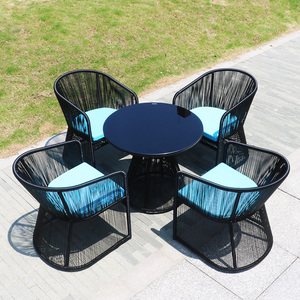 Turkey modern outdoor patio rattan dining table set furniture