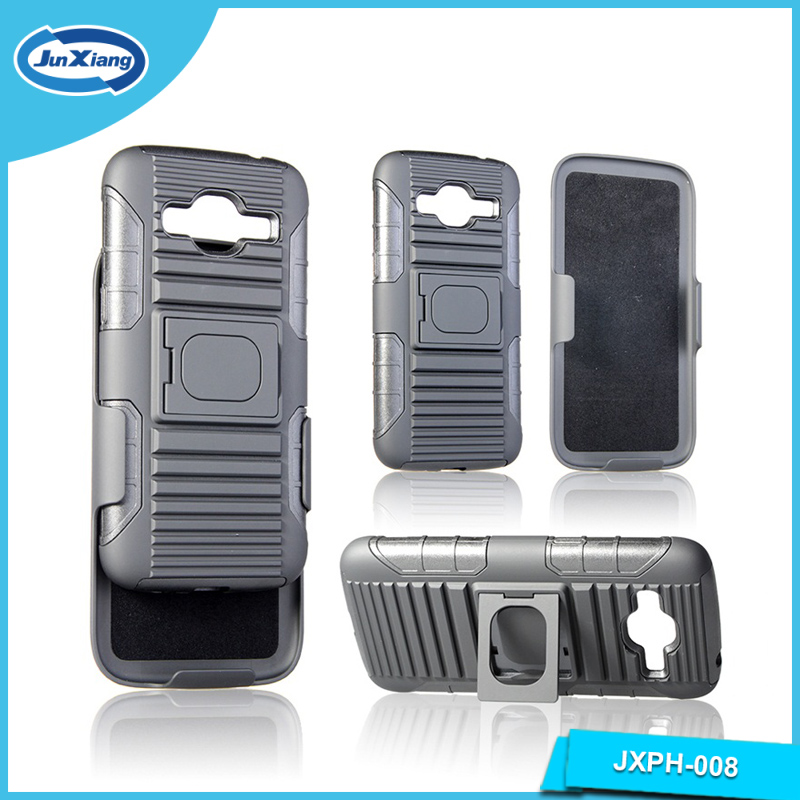 3 In 1 Kickstand With Belt Clip Holster Mobile Phone Case For Samsung J2,TPU+PC Case