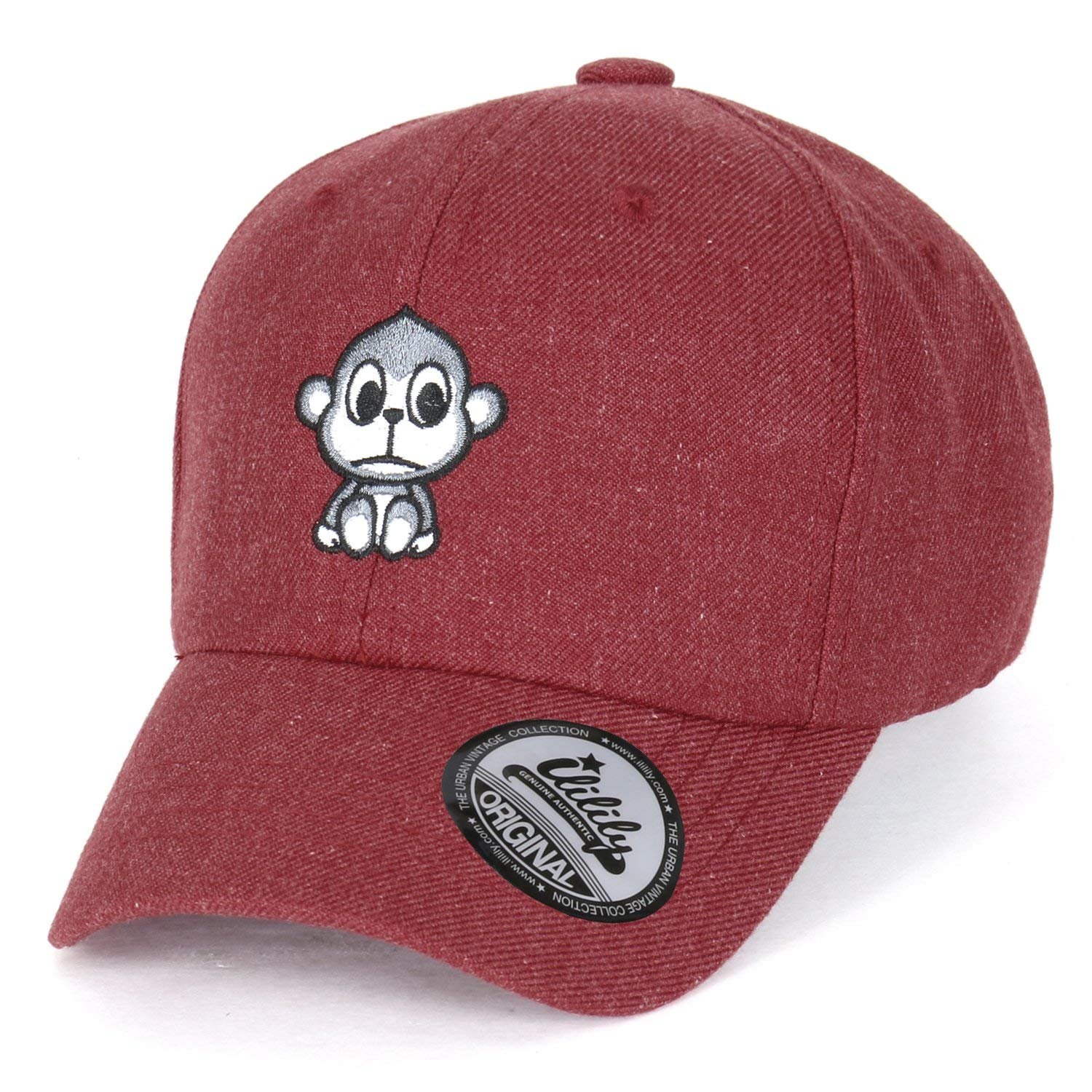 1577c3a7 ililily Cute Monkey Embroidery Adjustable Toddler Baby Kids Hat Baseball Cap
