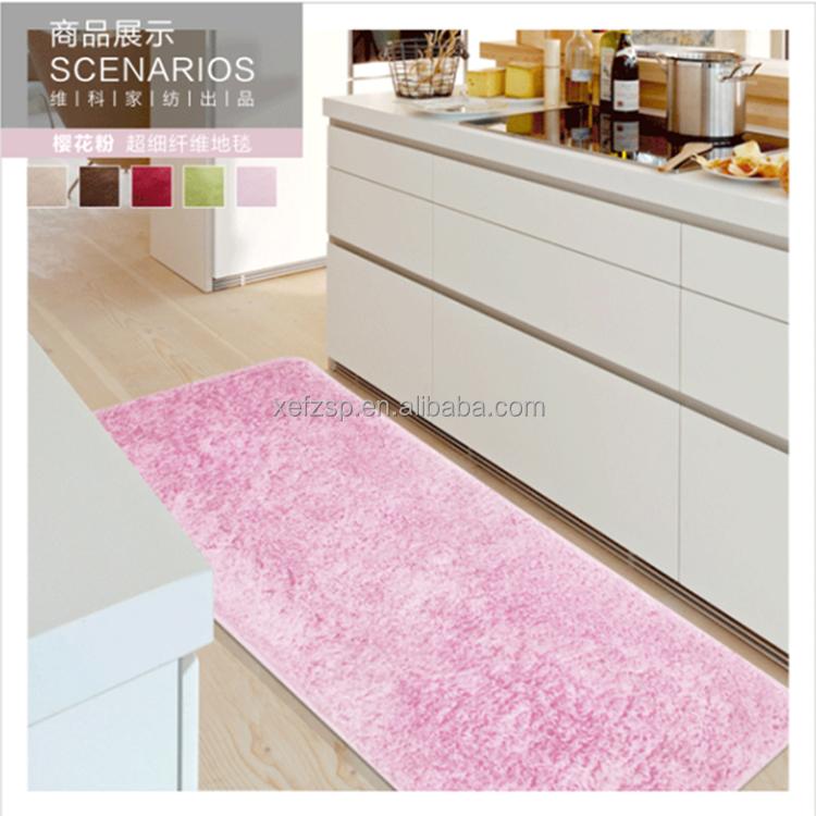 Rosa Küche Läufer Waschbar Mikrofaser Seide Teppich - Buy Seide  Teppich,Microfaser Teppich,Küche Läufer Teppich Waschbar Product on  Alibaba.com