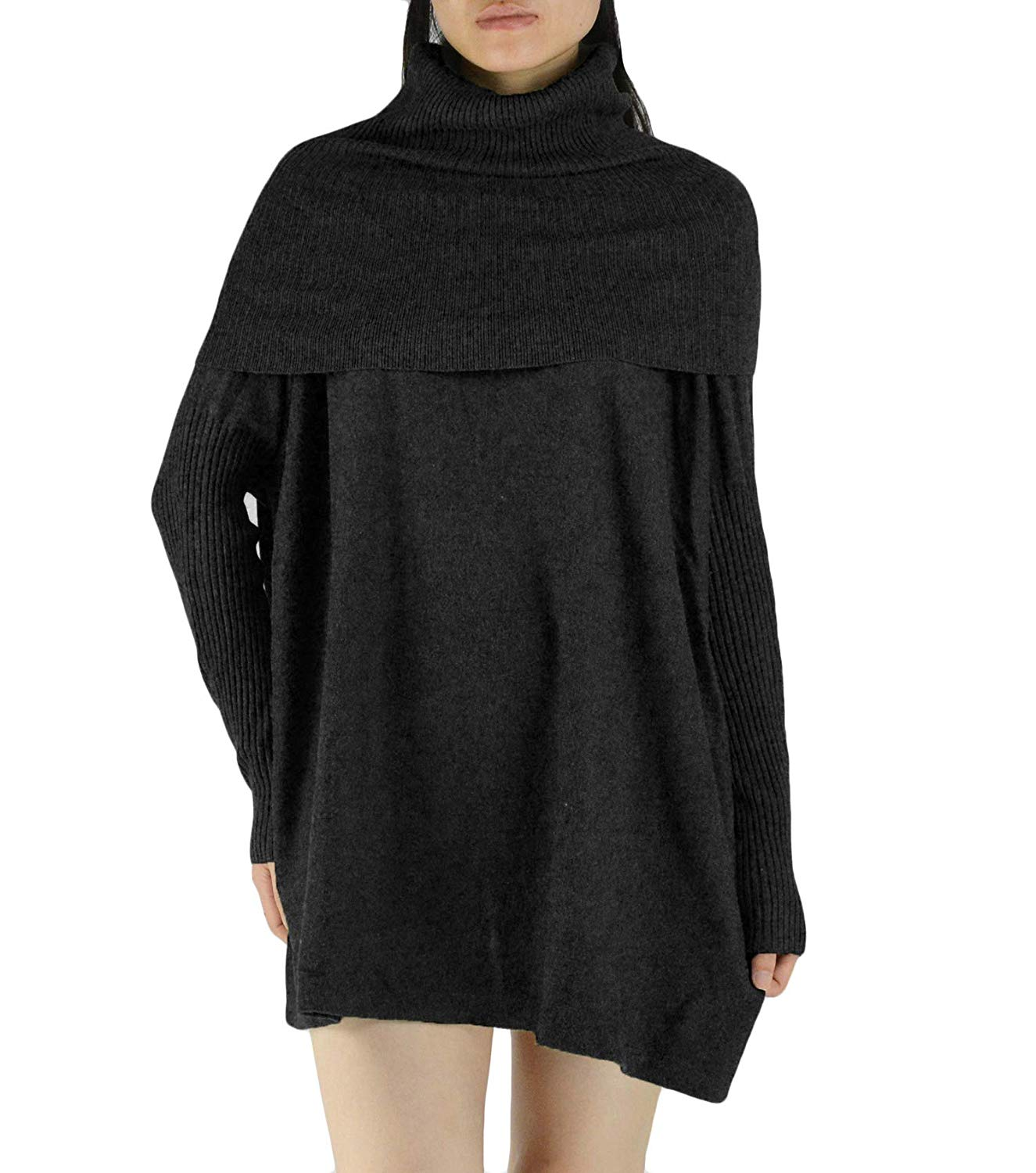 YSJERA Women's Oversized Loose Turtleneck Long Sleeves Pullover Knit Sweater Top Shirts