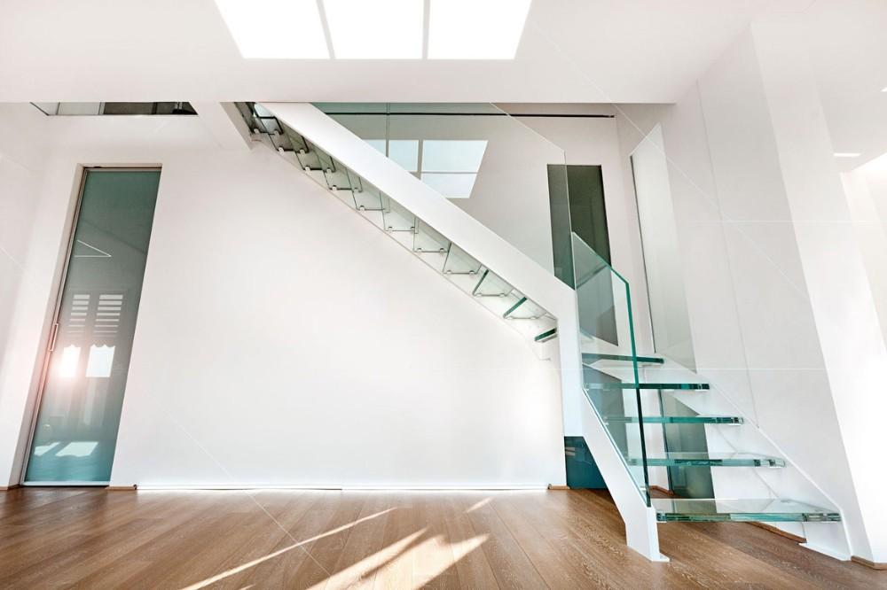 venta caliente flotante de cristal o madera peldaos escaleras diseo