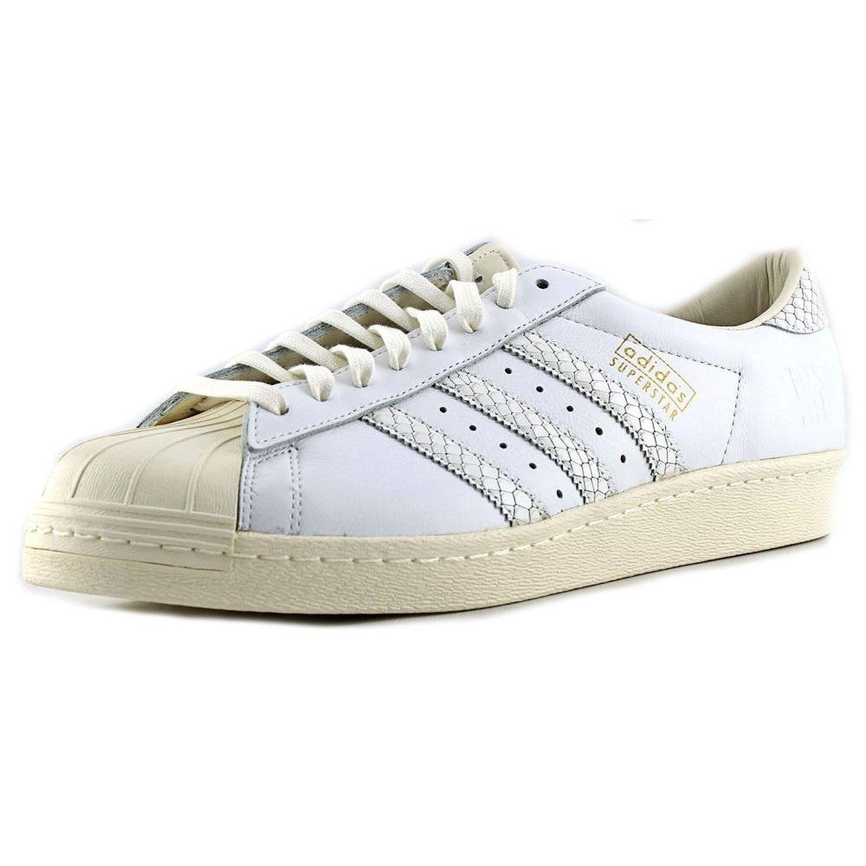 comprare nuovi uomini adidas superstar ii tre strisce bianco / nero)