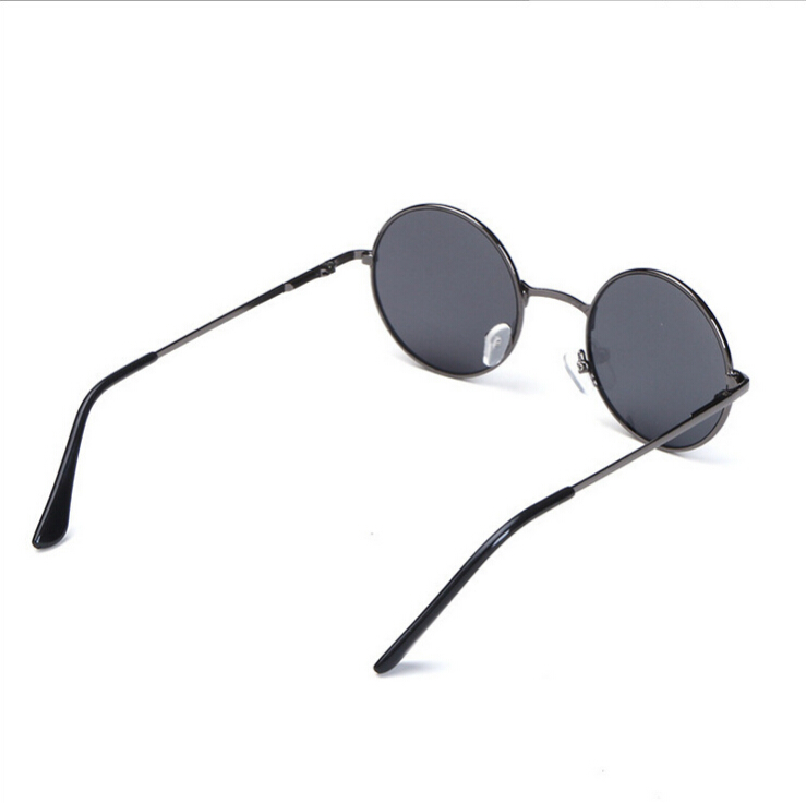HJ 2019 new fashion trend custom Children sunglasses popular black glasses CE FDA round mental frame wenzhou factory sunglasses