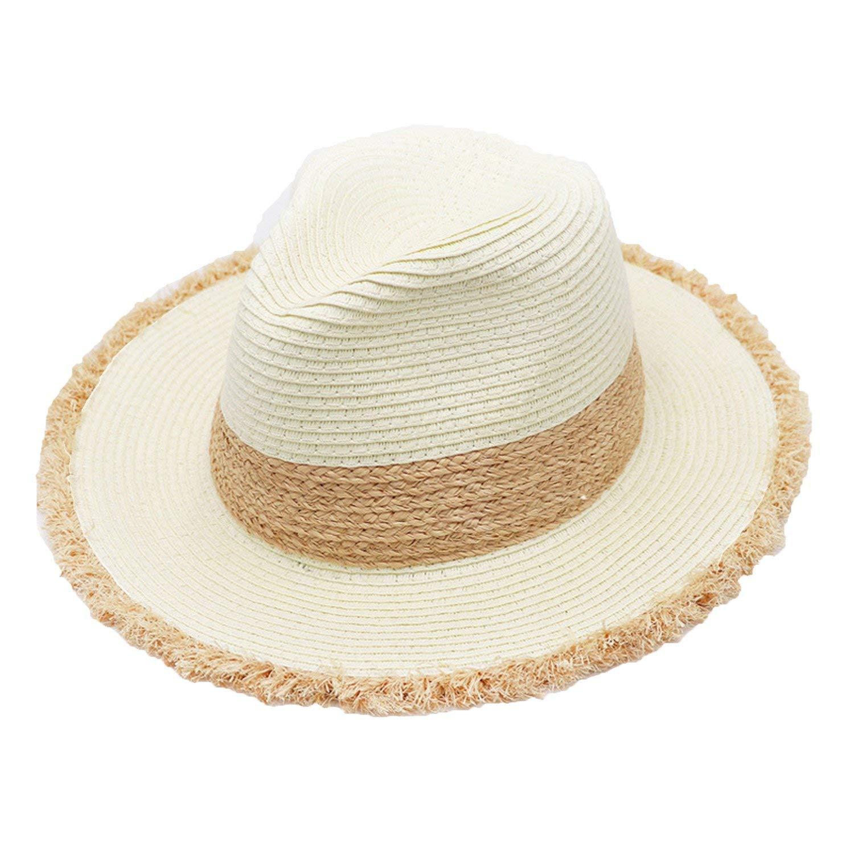 f3746f81e84b2 Get Quotations · B dressy straw hat ladies hats Panama hats summer travel  sunscreen beach hats caps