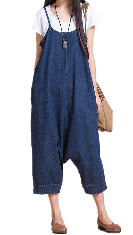 2d7c5a4f78 Get Quotations · LLP Classic Jean Suspender Skirt Casual Overalls Sweatpants