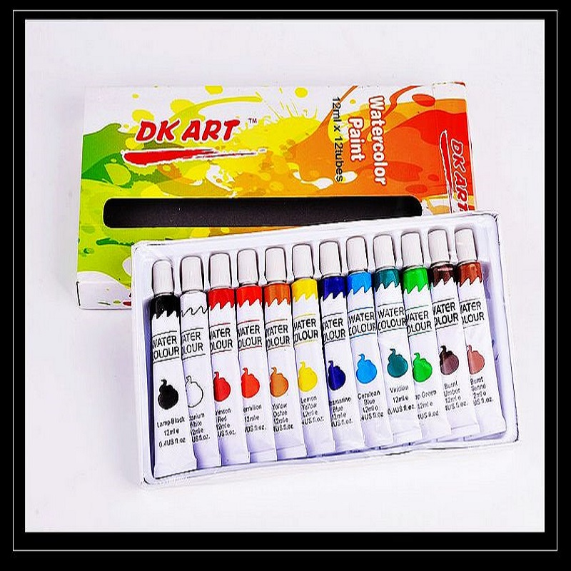 Art supply professional 12 tubes WATER COLOR paint set Professional 12 tubes WATER colour painting set non toxic water color