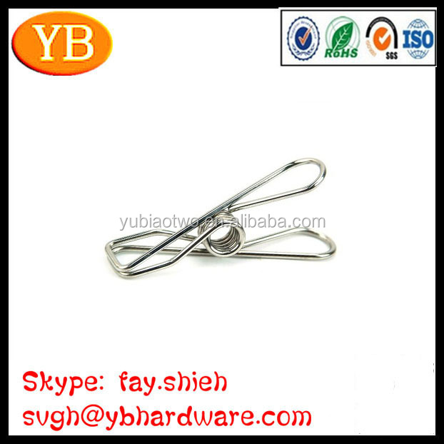 Torsion Type Spring Holding Clip For Clothing Pegs
