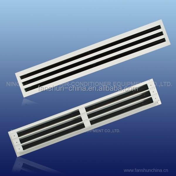 Rejilla De Aire Difusor De Ranura Lineal De Aluminio Con
