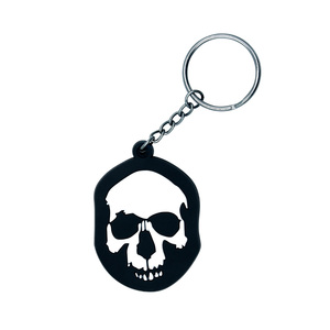 Fashion Skeleton pattern 3d custom shaped soft pvc Promotional gift custom magnetic keychain key ring