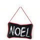 Custom Designed Handmade Noel Pattern Black Small Pillow Christmas Hanging Pillow Home Decorations