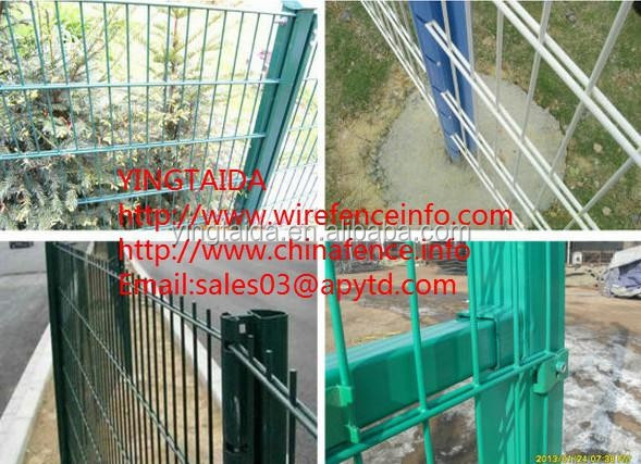 868 double horizontal wire hot dip galvanized surface welded wire mesh fence panels/double wire mesh fence
