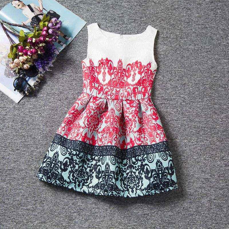 Unikids 2016 Kids party vestidos para Niñas Ropa pequeña Señora ...