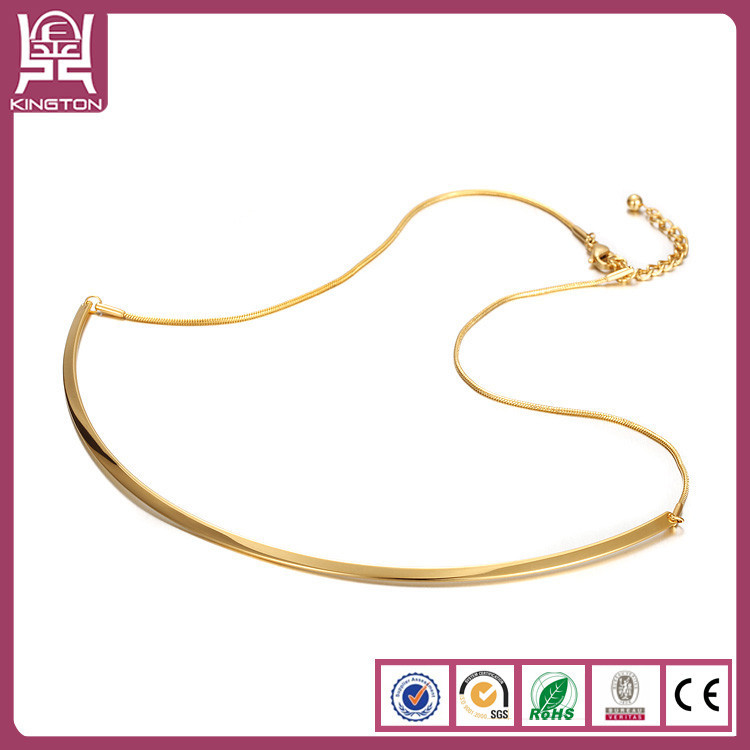 simple 18k gold chain necklace women female fashion gold thin ...