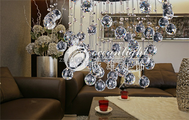 Hot Sell Drop Crystal Chandelierhanging Light For Living Roommodern Asfour Egypt