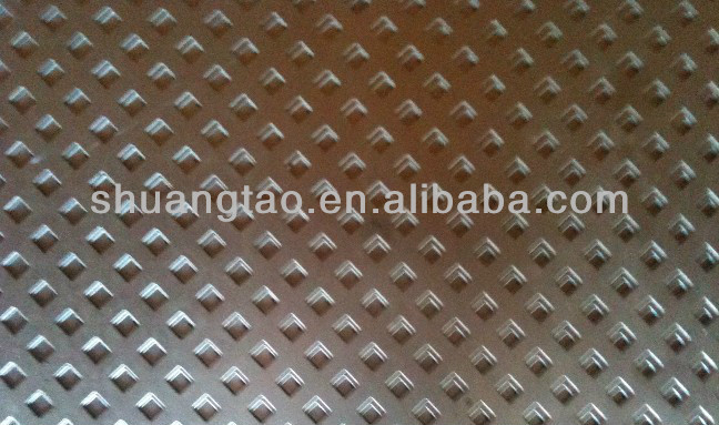 square hole powder coated perforated metal sheet in aluminum