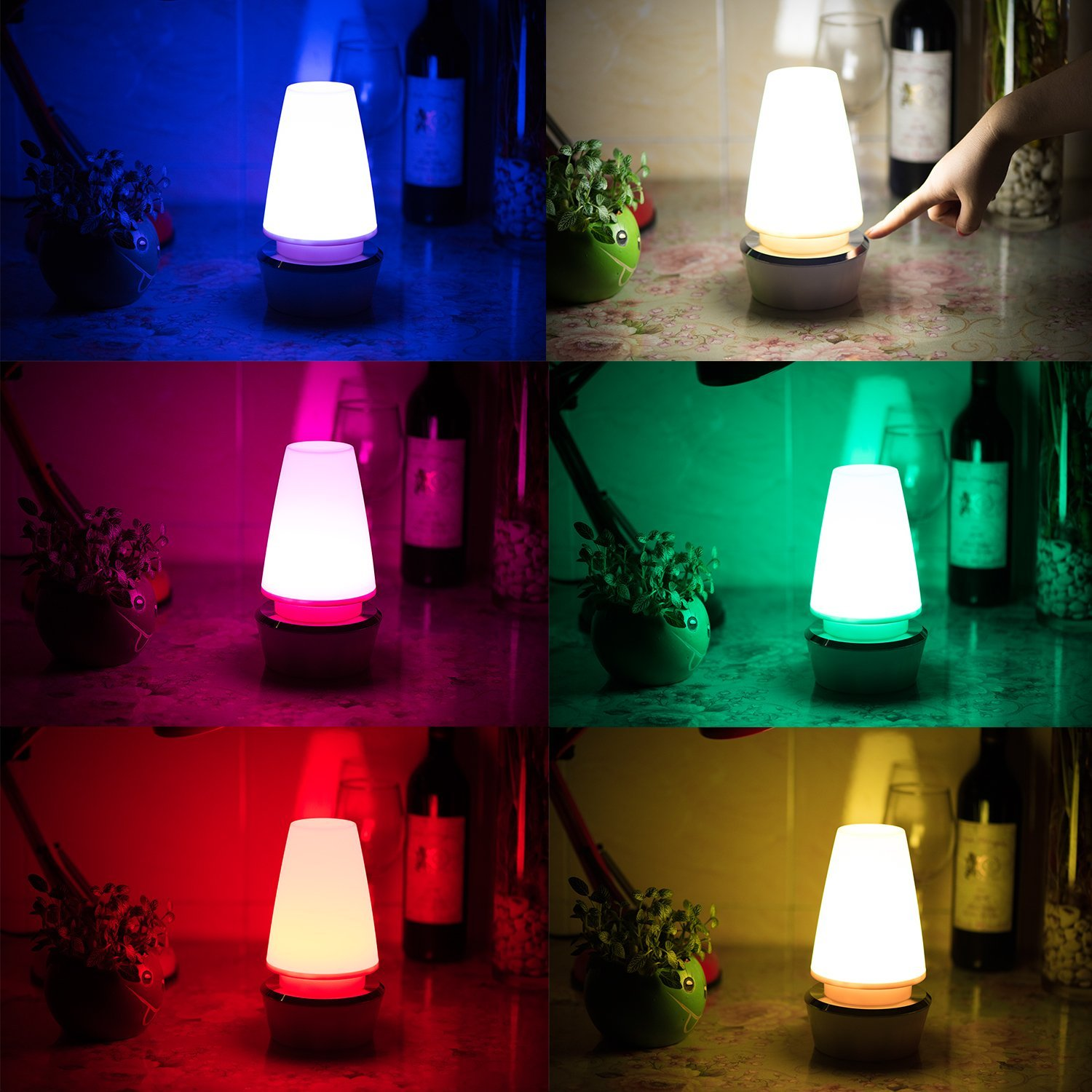 Get Quotations Nursery Lamp Elec3 Night Light Bedroom Atmosphere Bedside Table 360 Degrees Touch