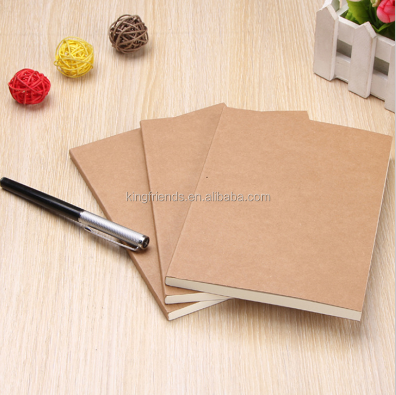 Vintage kraft paper blank notebook simple notebook