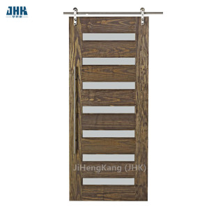 Jhk G01 Burma Buyer Teak Wood Frosted Glass Interior Barn Door