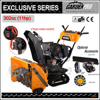 11hp GARDENPRO snow plow / snow shovel / snow remover / snow broom / snow thrower with rubber track, chute remote control