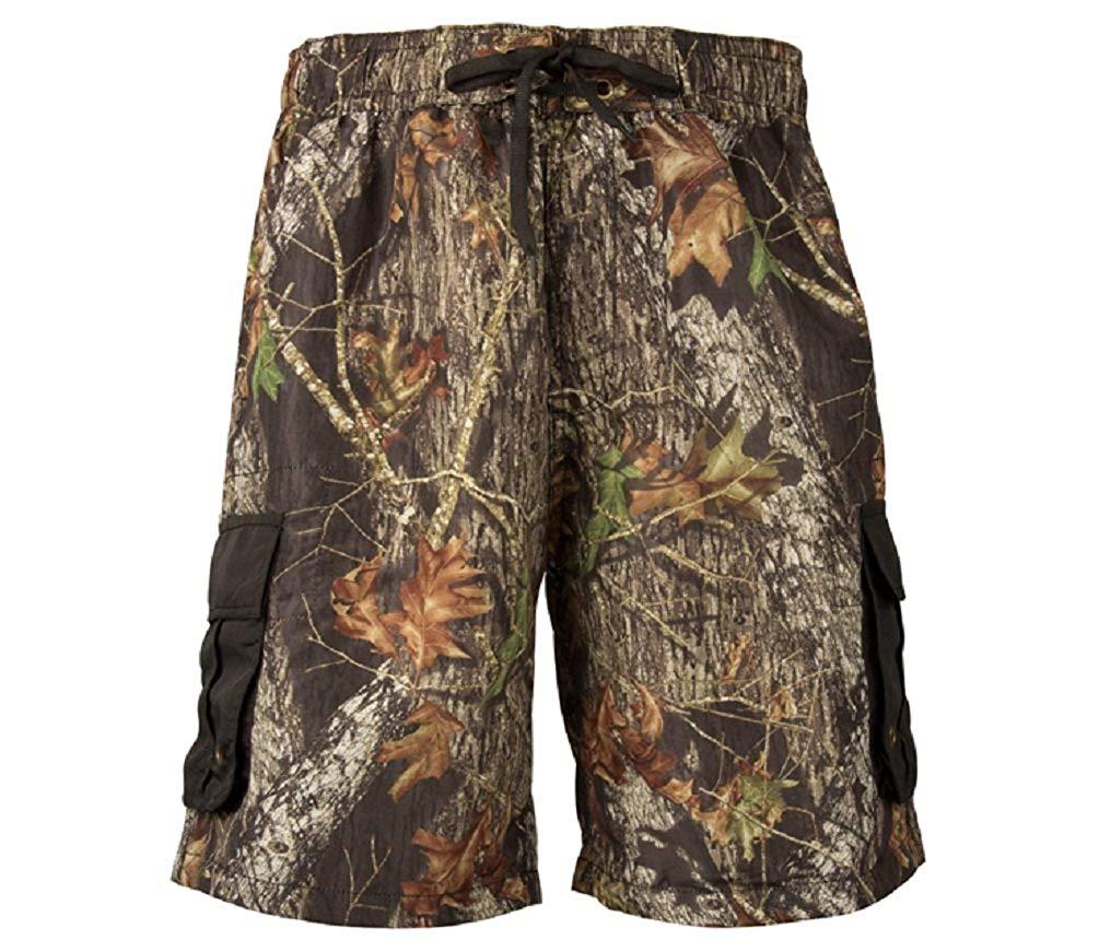 36a3aa5585 Get Quotations · Mossy Oak Break Up Cargo Board Shorts Mens Camouflage Swim  Trunks