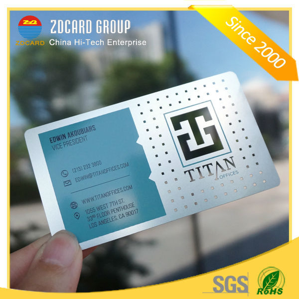 4 Color Offset Printing Plastic Glitter Effect Plastic Business Card